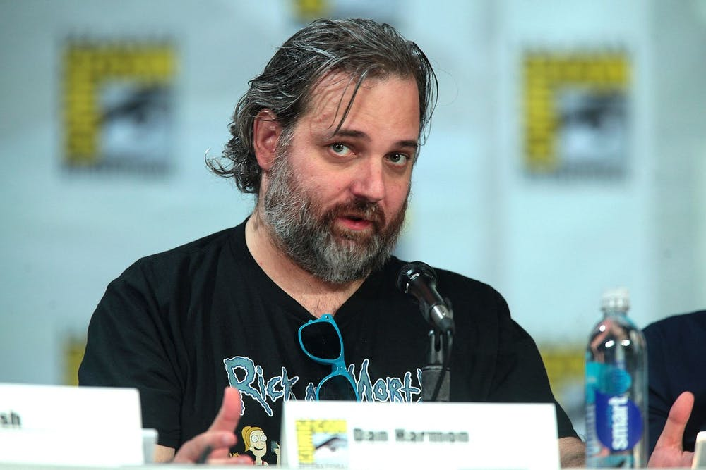 <p>'Rick and Morty' creator Dan Harmon hosts a panel at 2014 Comic Con in San Diego.</p>