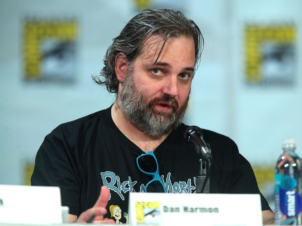'Rick and Morty' creator Dan Harmon hosts a panel at 2014 Comic Con in San Diego.