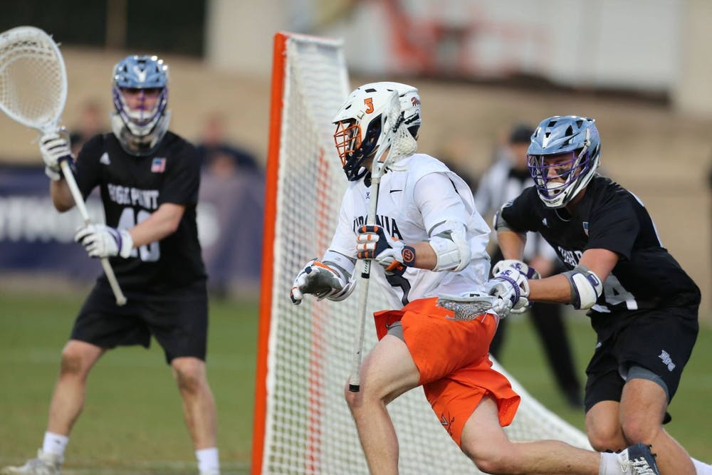 <p>Senior attackman Matt Moore was outstanding against the Panthers, scoring three goals and tallying two assists for five points on the afternoon.&nbsp;</p>