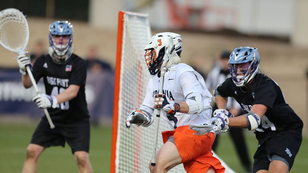 Senior attackman Matt Moore was outstanding against the Panthers, scoring three goals and tallying two assists for five points on the afternoon.