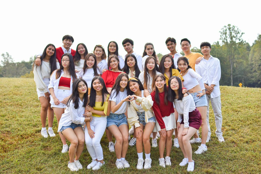 <p>The Fall 2019 members of K-Edge pose for their group photo.</p>