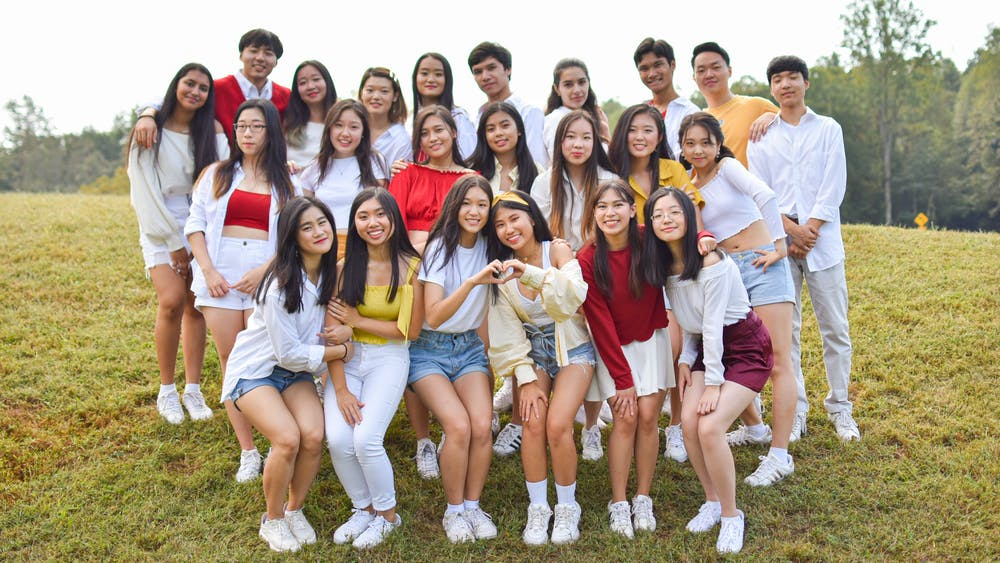 The Fall 2019 members of K-Edge pose for their group photo.