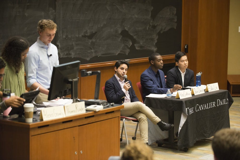 <p>The Cavalier Daily held a forum for Student Council's presidential candidates Monday evening. &nbsp;</p>