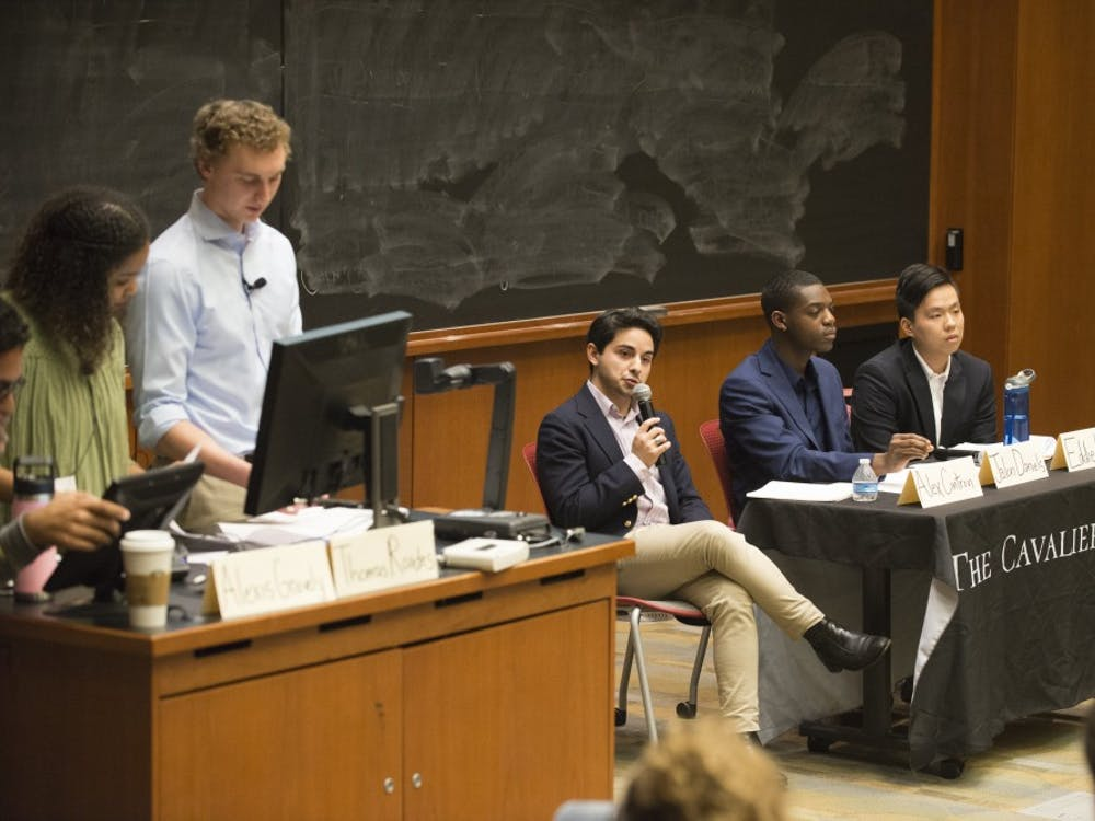 The Cavalier Daily held a forum for Student Council's presidential candidates Monday evening.