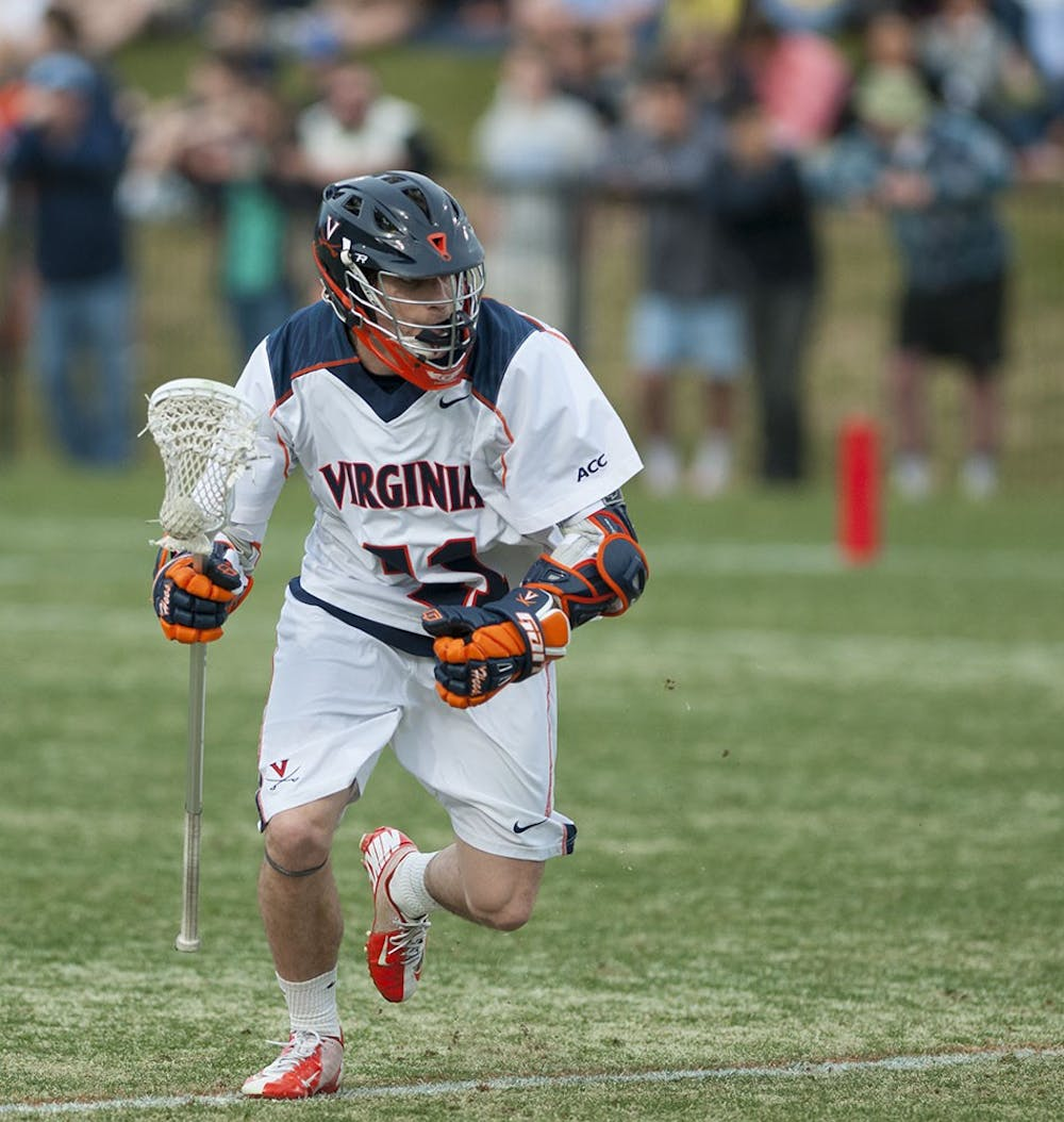 <p>Senior attackman Mark Cockerton knotted the game up at 9-9 in the fourth quarter, but Virginia would ultimately fall to the No. 5 Tar Heels, 11-10. Cockerton tallied four goals and one assist in the loss.</p>