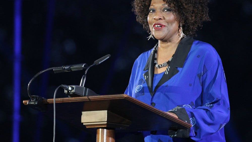 Rita Dove speaks at the Bicentennial Launch Celebration Oct. 6, the weekend before her event at the Paramount Theater.