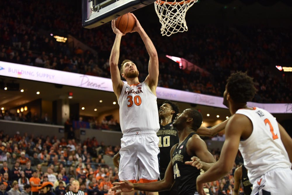 <p>Redshirt sophomore forward Jay Huff finished with 12 points, tied for a team-high.</p>