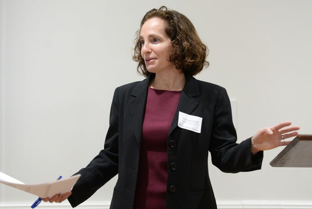 <p>Law School Dean Risa Goluboff chairs of the Deans Working Group, which was formed in the aftermath of the events of Aug. 11 and 12.&nbsp;</p>