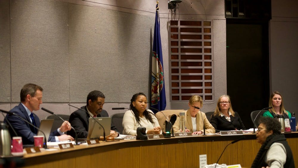 Local lady speaks to City Council at Tuesday night's hearing.