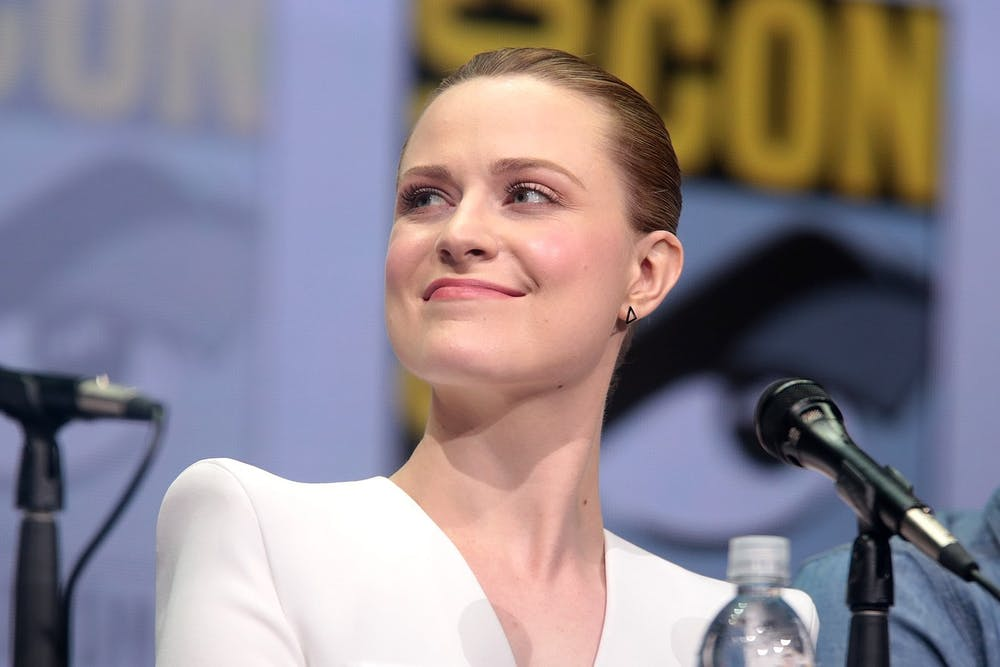 "<p>""Westworld"" star Evan Rachel-Wood appears at a Comic Con panel for the show in 2017.</p>"