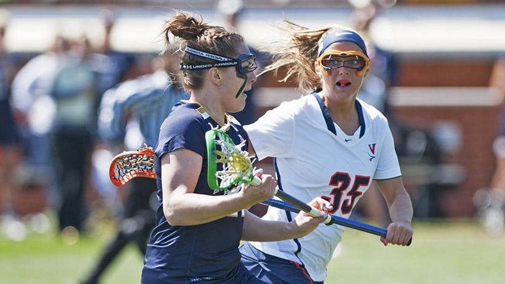 Senior attacker Kelly Boyd and her twin sister, Brooke, have been playing lacrosse together since kindergarden. The decision to attend Virginia together was an easy one for both.