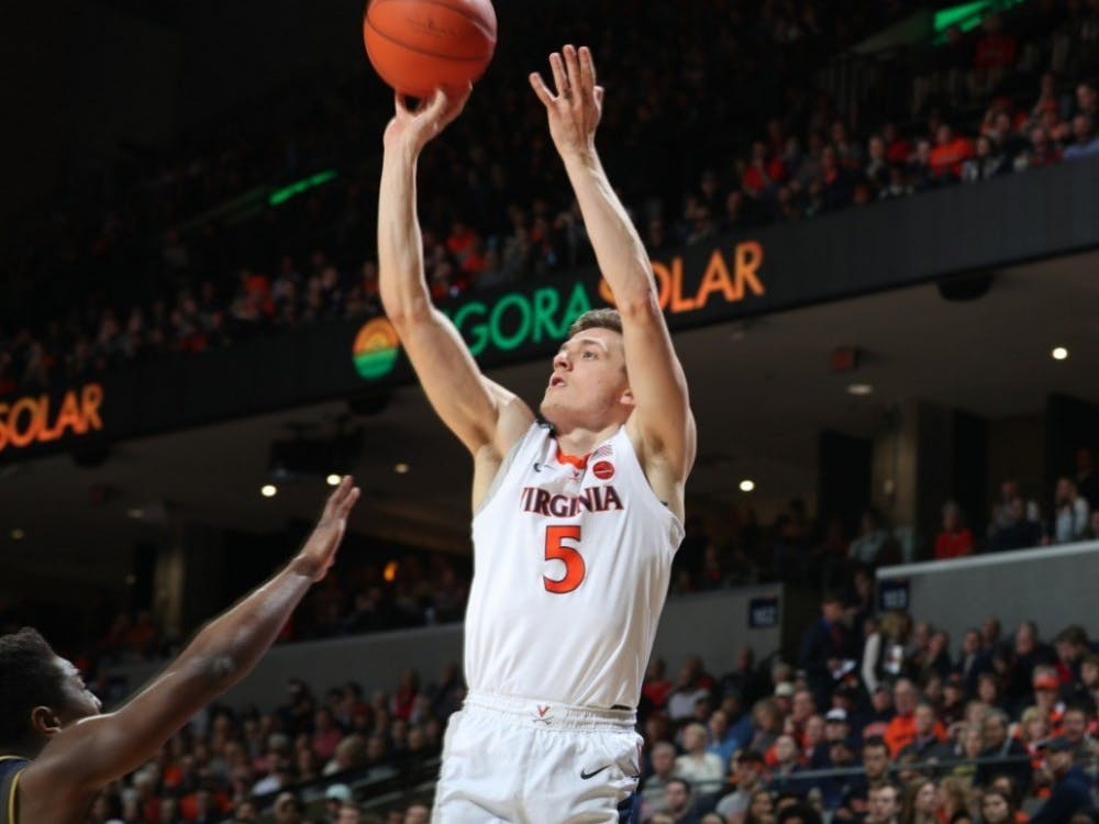 Junior guard Kyle Guy finished with a team-high 23 points and 7 rebounds.