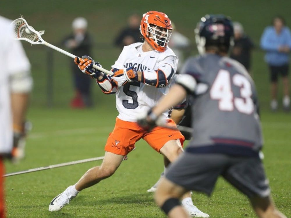 Sophomore attackman Matt Moore score the game-winning goal in overtime against Maryland.