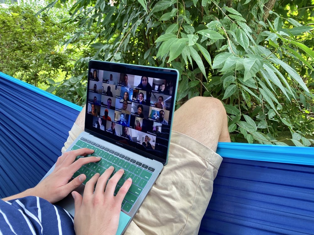 The University does not allow professors to track whether students have Zoom in focus during screen sharing due to privacy concerns.