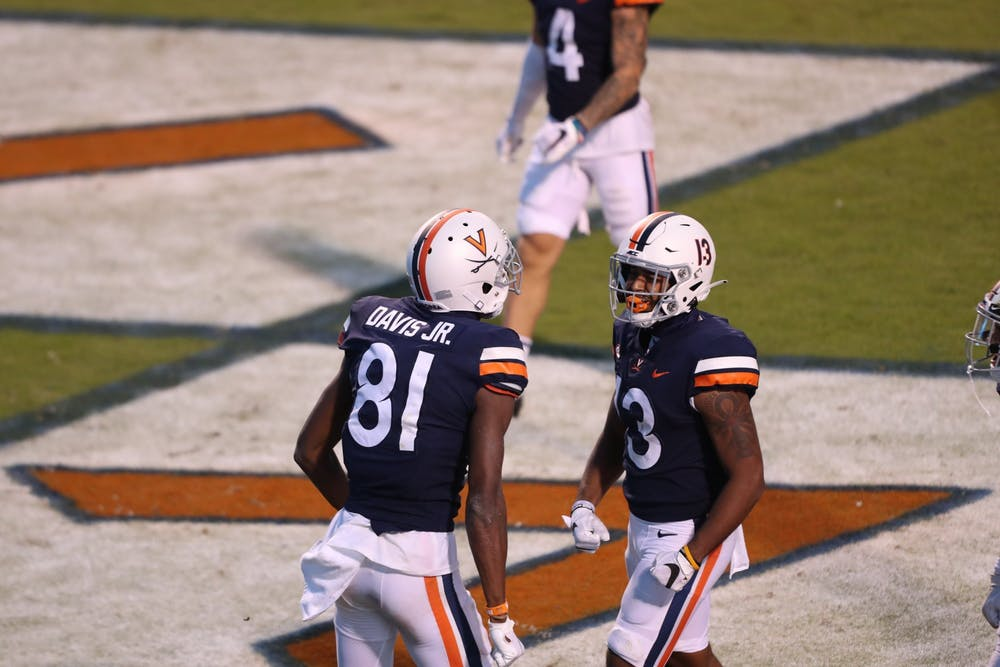 <p>Freshman wide receiver Lavel Davis Jr. had a strong debut for Virginia, posting over 100 yards receiving and two touchdowns. &nbsp;</p>