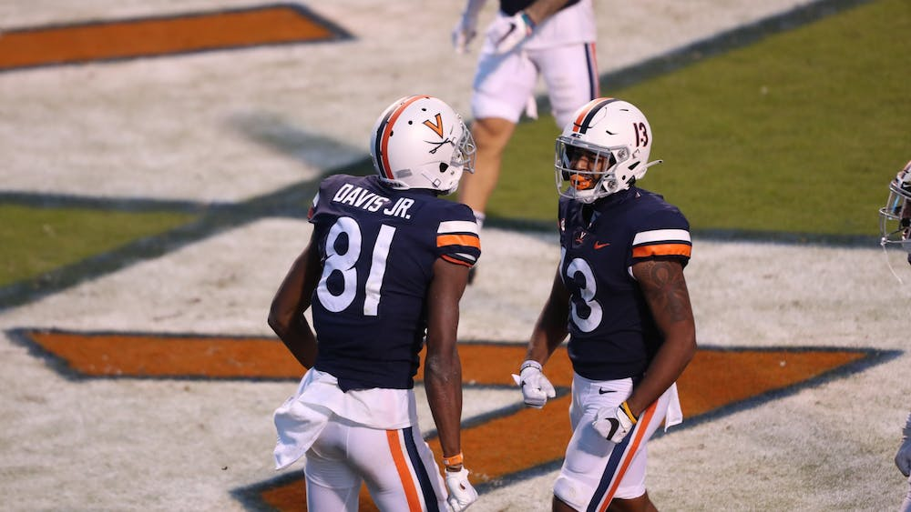Freshman wide receiver Lavel Davis Jr. had a strong debut for Virginia, posting over 100 yards receiving and two touchdowns.