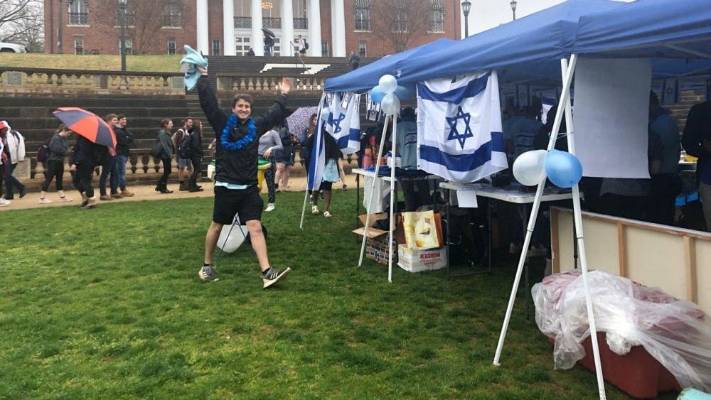 """Despite the rain, University gathered at the """"Shuk"""" — the Israeli term for open-marketplace — in the Amphitheatre."""