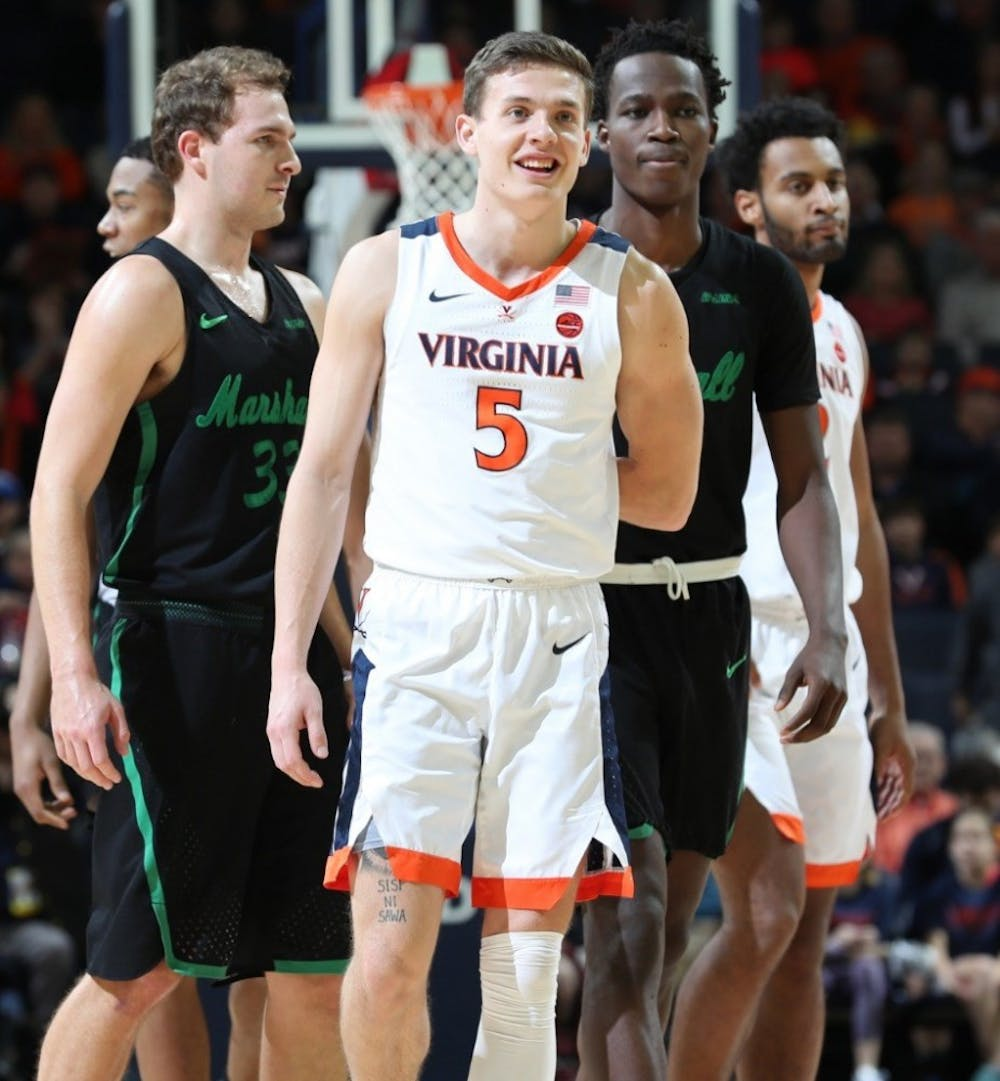 <p>Junior guard Kyle Guy has scored 20 or more points in the Cavaliers' last 3 games.</p>