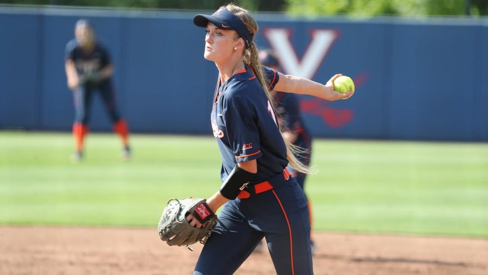 <p>Freshman Aly Rayle started on the mound in the Cavaliers' last game of the season.</p>