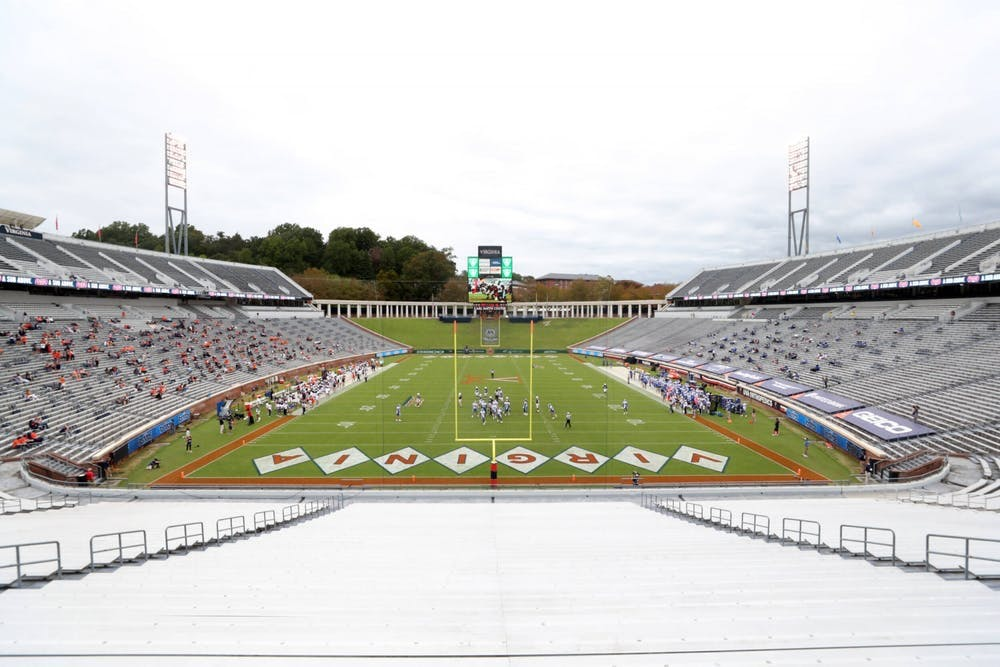 <p>No Virginia football players or coaches were withheld from Saturday's win against Louisville, one week after the game had been postponed due to an outbreak of cases in Louisville's program.&nbsp;</p>