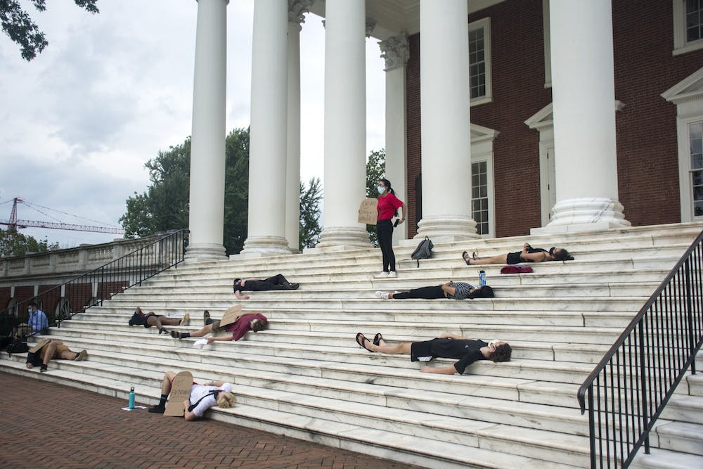 The purpose of the demonstration was to express to the University that no lives should be expendable in the choice to move forward with on-Grounds instruction, which is set to begin Sept. 8.