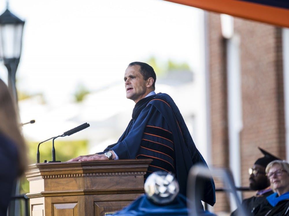 During his inaugural address Friday afternoon, University President Jim Ryan announced that low- and middle-income students will be able to attend U.Va. tuition-free.