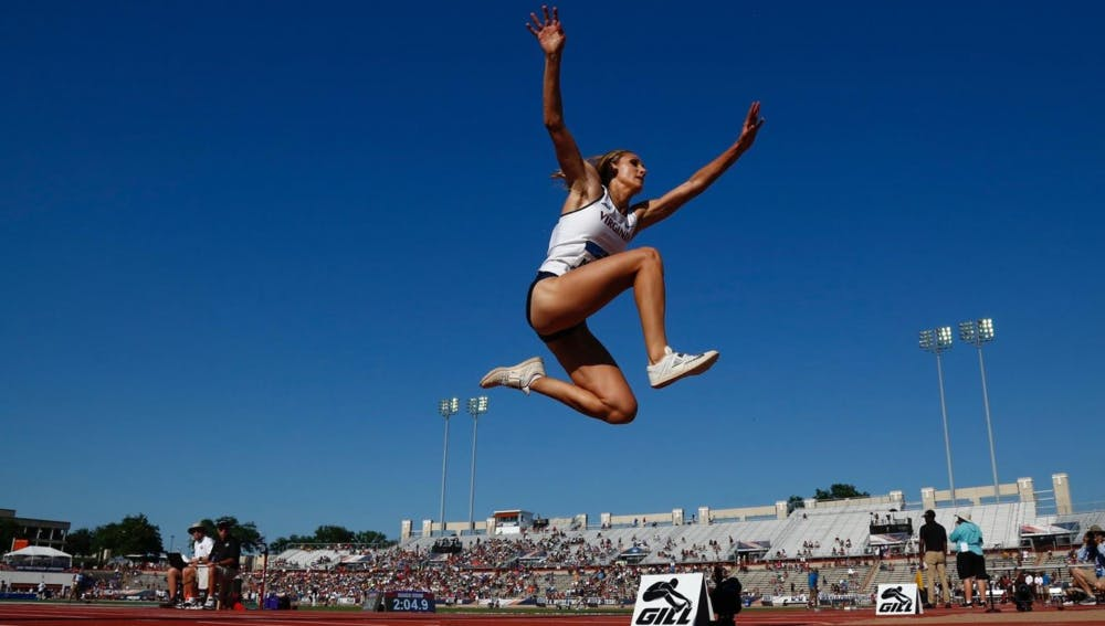 <p>Senior Kelly McKee recorded the best women's triple jump finish in program history.&nbsp;</p>