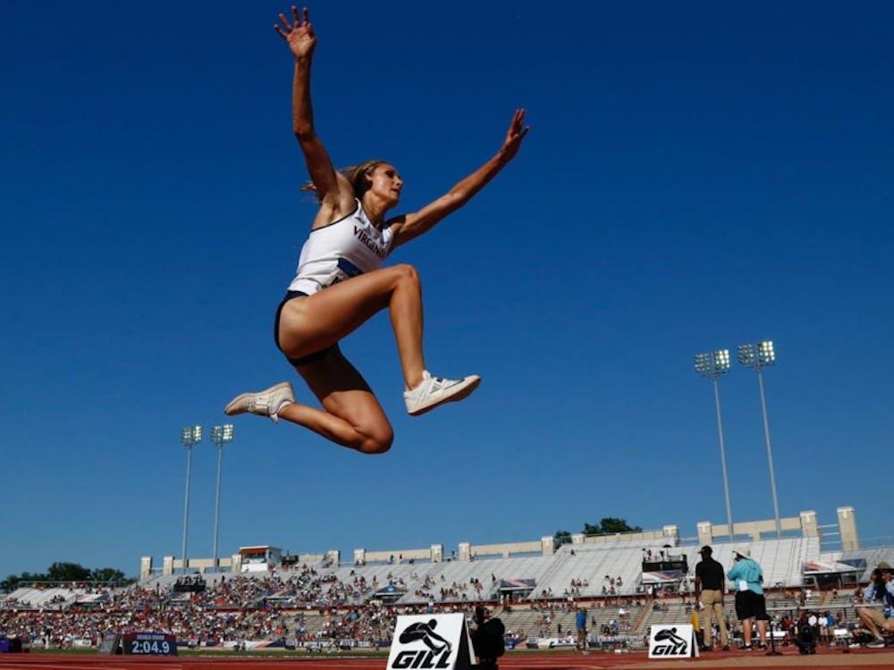 Senior Kelly McKee recorded the best women's triple jump finish in program history.