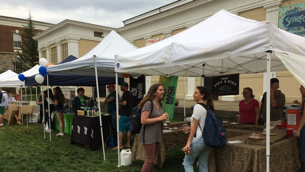Monday's farmers market featured local vendors as well as student-run groups.