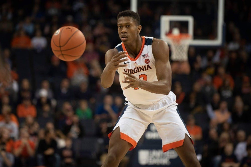 <p>Redshirt sophomore guard De'Andre Hunter should play a crucial role for the Cavaliers against Maryland.</p>