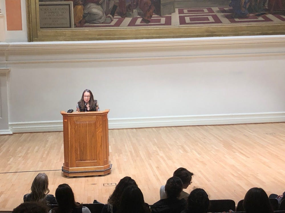 <p>Writer and former U.Va. professor Ann Beattie read at Old Cabell Hall Oct. 17.&nbsp;</p>