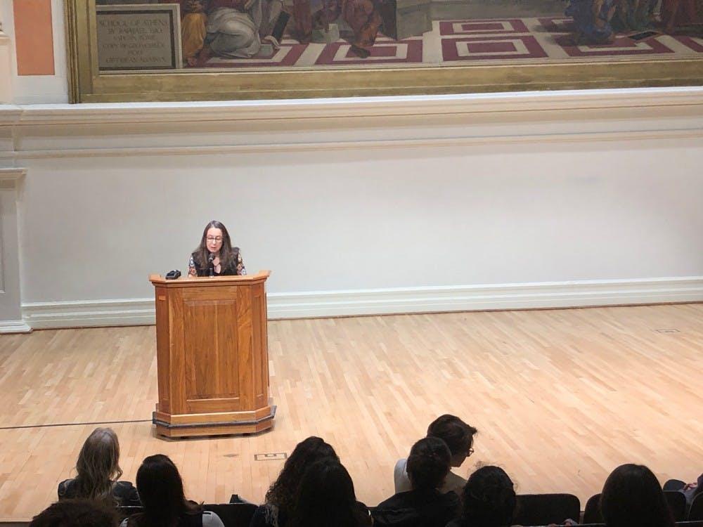 Writer and former U.Va. professor Ann Beattie read at Old Cabell Hall Oct. 17.