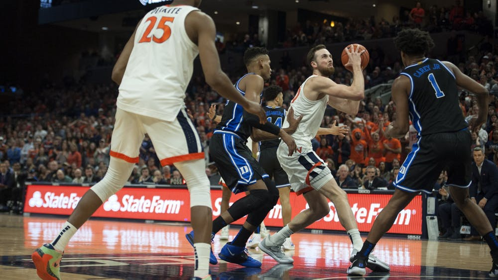 Junior forward Jay Huff and senior forward Mamadi Diakite combined for 31 points for Virginia in a low-scoring affair against ACC foe Miami.