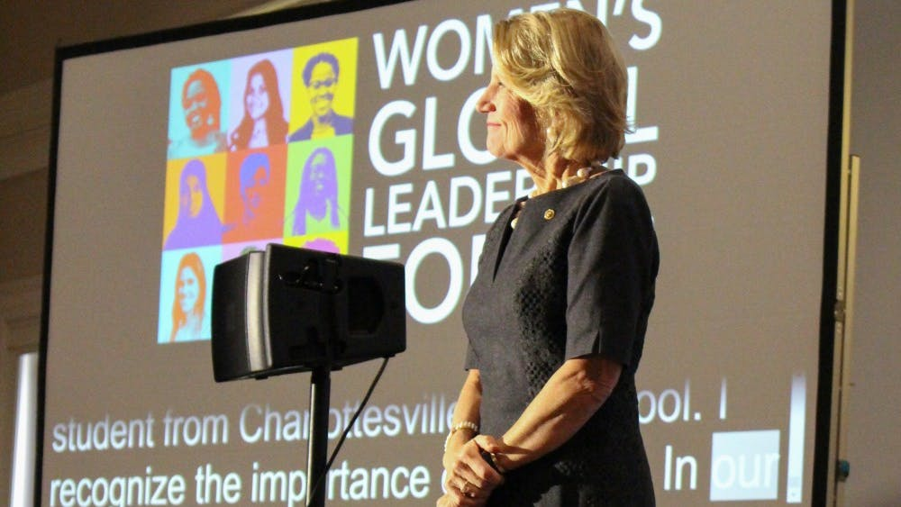 U.S. Sen. Shelley Moore Capito gave the keynote address Monday morning for the Women's Global Leadership Forum.