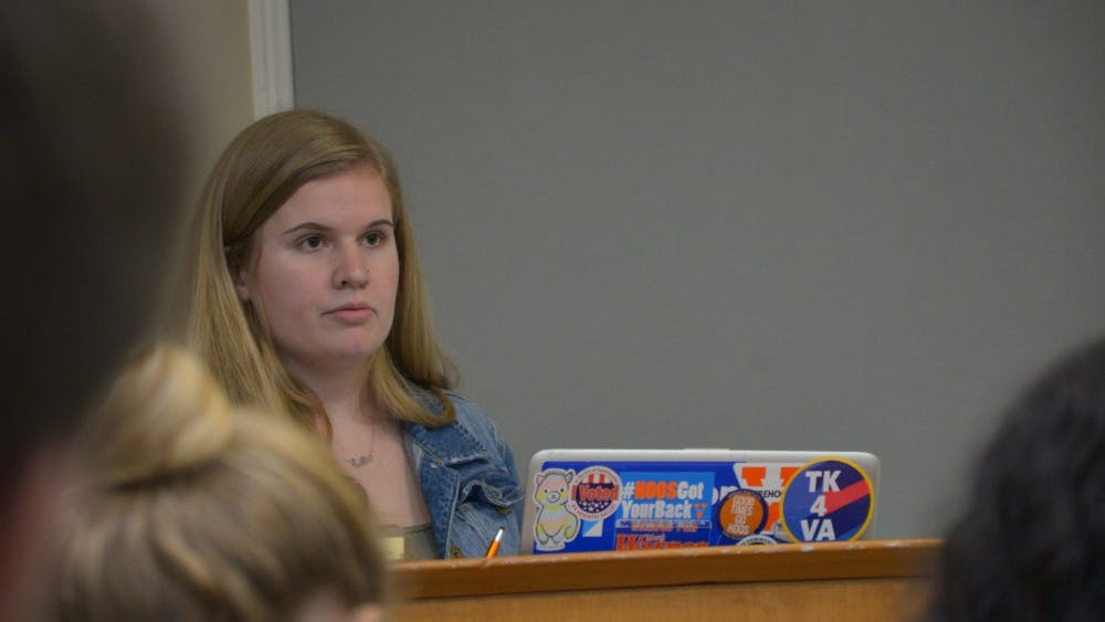 Student Council Representative Body Chair Ellie Brassachio presided over the Tuesday meeting.