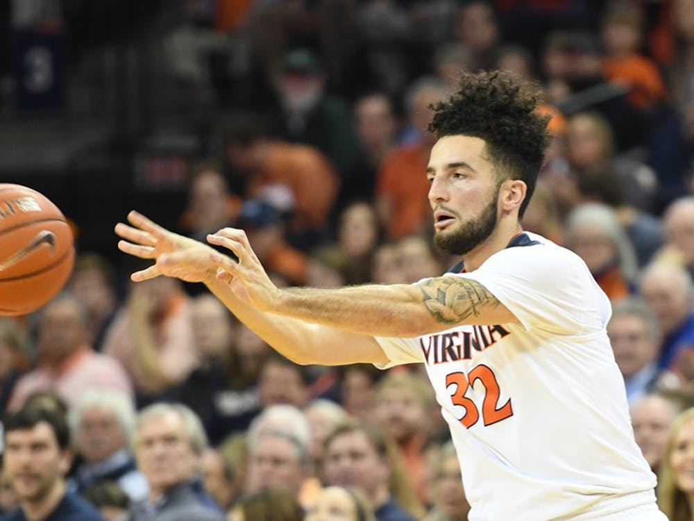 Senior point guard London Perrantes led all scorers with 22 points in Virginia's 71-54 victory over Notre Dame Tuesday night.