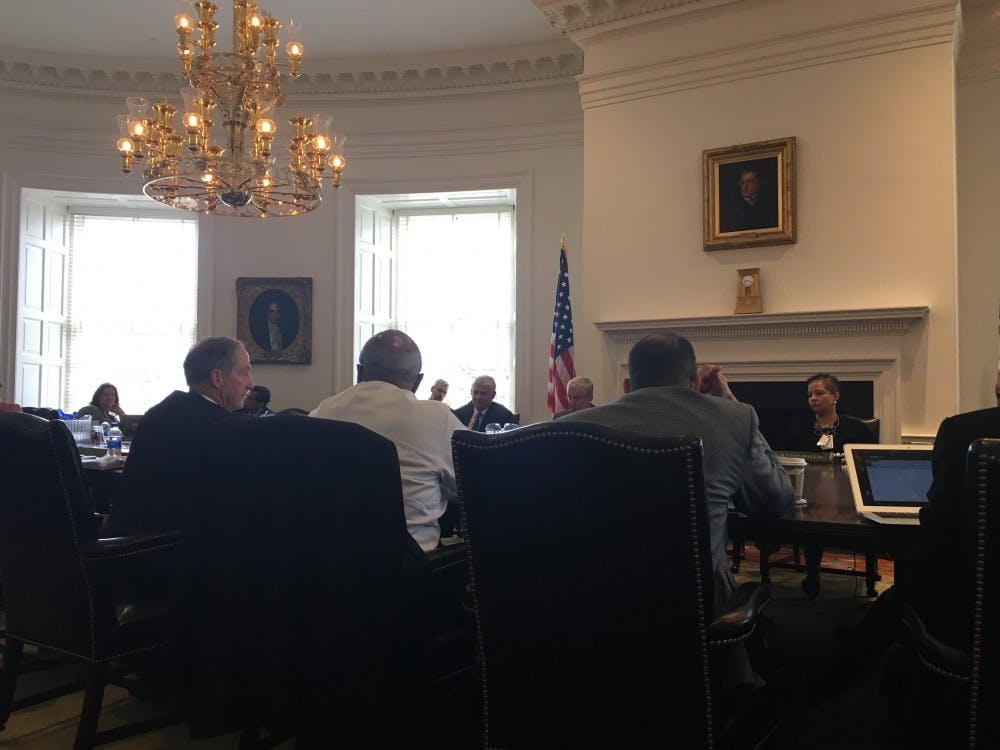 <p>Members of the Health Board discuss progress and improvements to be made for healthcare at the University.</p>