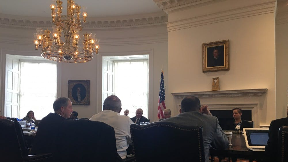 Members of the Health Board discuss progress and improvements to be made for healthcare at the University.