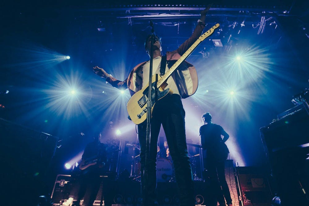 <p>University grad Will Anderson fronts Parachute. The group performed at The Jefferson this week.</p>