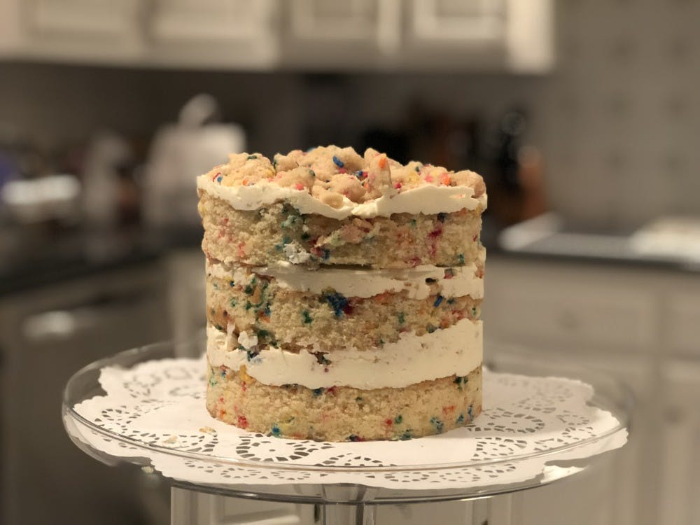 You can recreate the Momofuku Milk Bar Birthday Cake easier by making each component ahead of time.