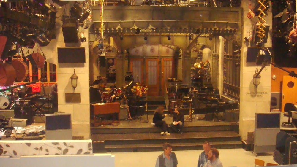 """<p>The iconic set of """"Saturday Night Live,"""" which just premiered its 45th season/</p>"""