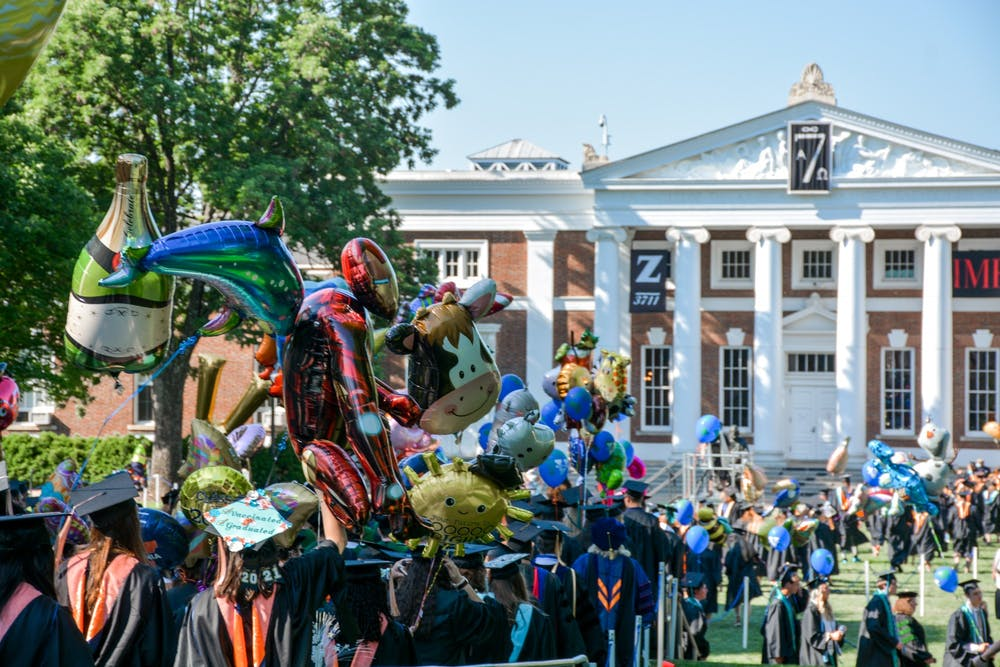 <p>All graduating students from the Class of 2021 enjoyed the opportunity to walk the Lawn and process to Scott Stadium, where the ceremonies took place.&nbsp;</p>