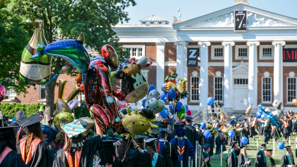 All graduating students from the Class of 2021 enjoyed the opportunity to walk the Lawn and process to Scott Stadium, where the ceremonies took place.