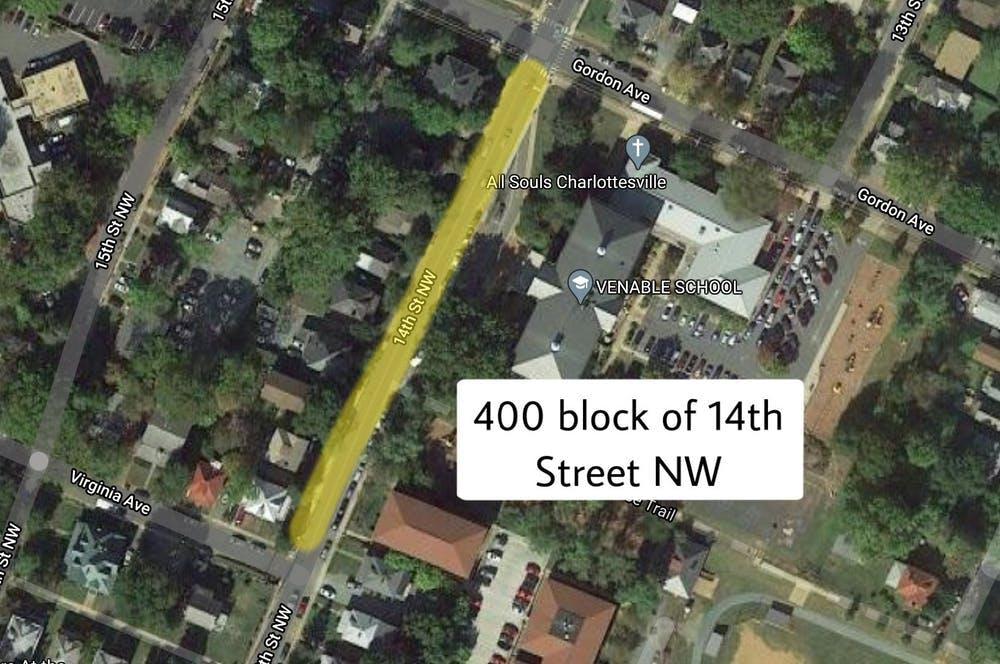 入室盗窃发生在第14街400号街区,一个住宅区。