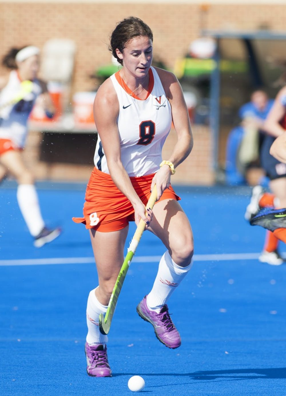 <p>Sophomore midfielder Tara Vittese, Virginia's leading scorer, converted a penalty stroke four minutes into overtime to give the Cavaliers a 3-2 win against Delaware in October.</p>