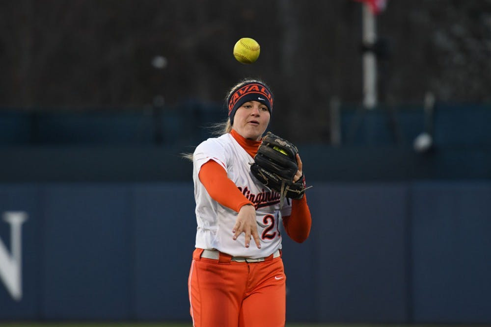 <p>Sophomore&nbsp;Lacy Smith pitched four innings in the first matchup of the doubleheader before hitting a homer in the second game.</p>