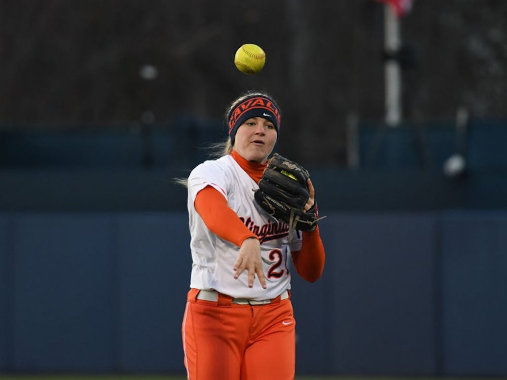 SophomoreLacy Smith pitched four innings in the first matchup of the doubleheader before hitting a homer in the second game.