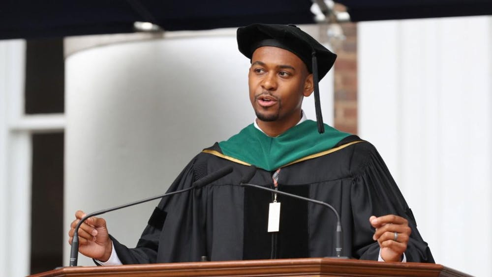 Dr. Webb gave the keynote address to graduates of the College during Final Exercises in 2019.