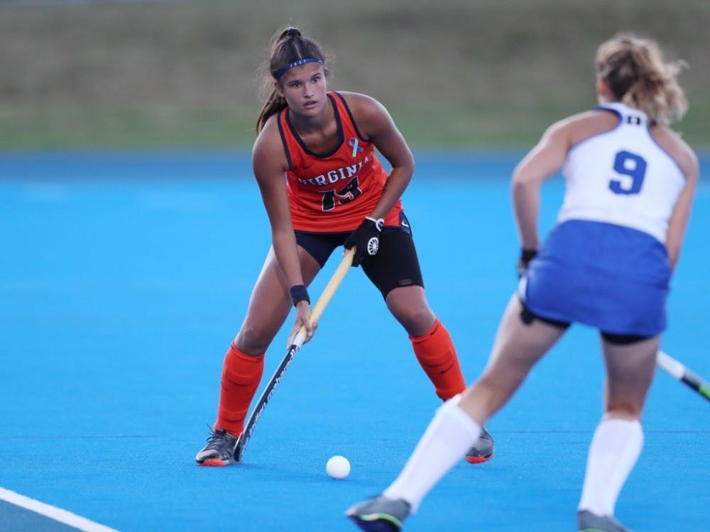 Sophomore back Amber Ezechiels scored her first goal of the year to cap off the come-from-behind win against No. 4 Duke.