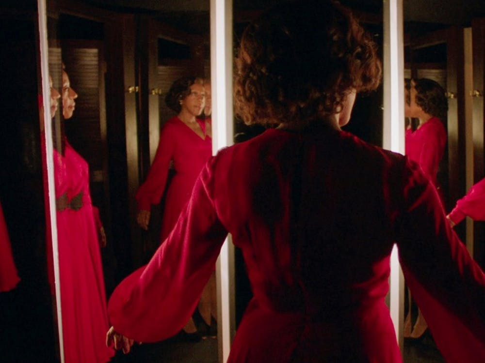 "Peter Strickland's satirical horror film ""In Fabric"" was shown at the Virginia Film Festival."